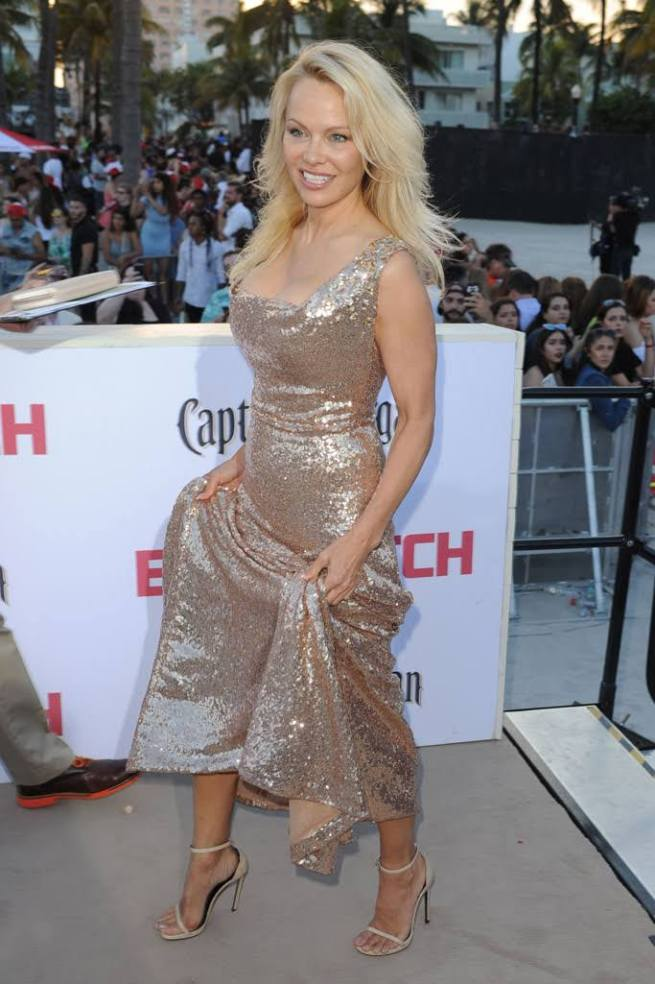Pamela Anderson on the Red carpet