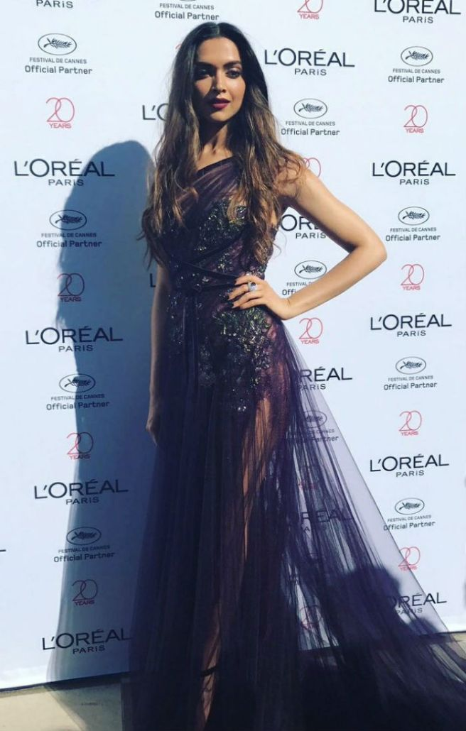 Deepika Padukone at Cannes red carpet