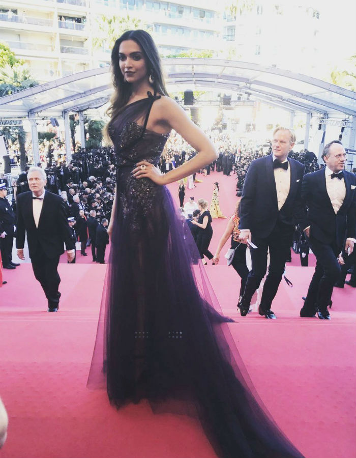 Deepika Padukone at Cannes red carpet