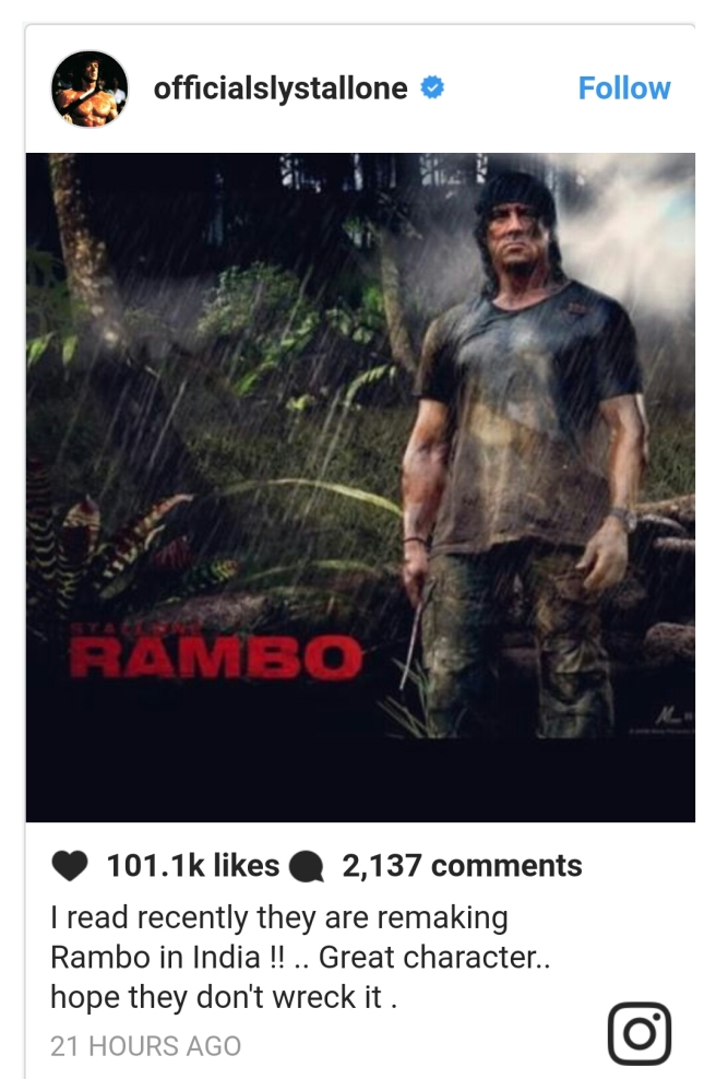 Sylvester Stallone tweeted