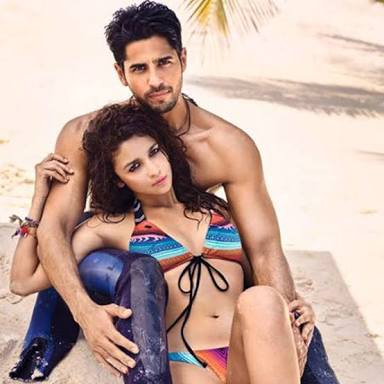 Bold and stunning picture of Alia and Siddharth on a beach